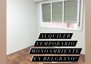 Alquiler Temporario Monoambiente, Vidal y Echeverría. Belgrano
